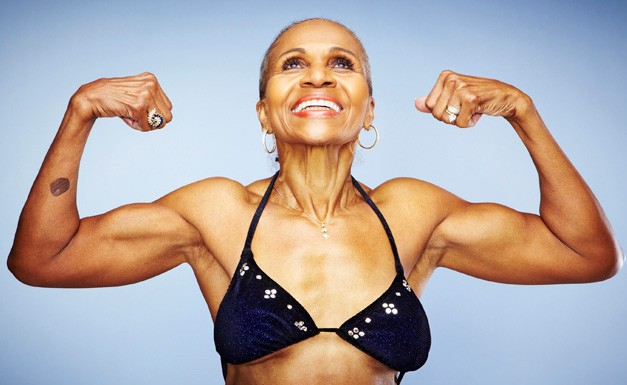 My (s)hero: Ernestine Shepherd...75 yr old body building champion and personal trainer.